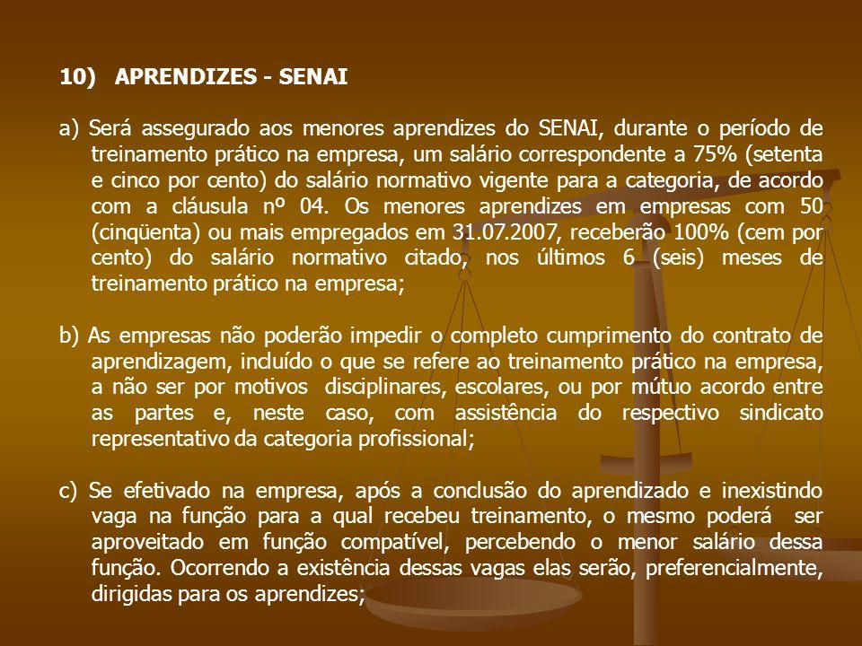 10) APRENDIZES - SENAI