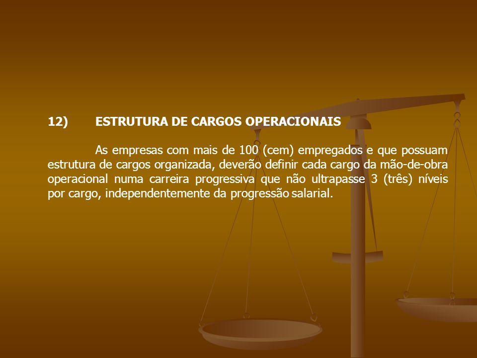 12) ESTRUTURA DE CARGOS OPERACIONAIS