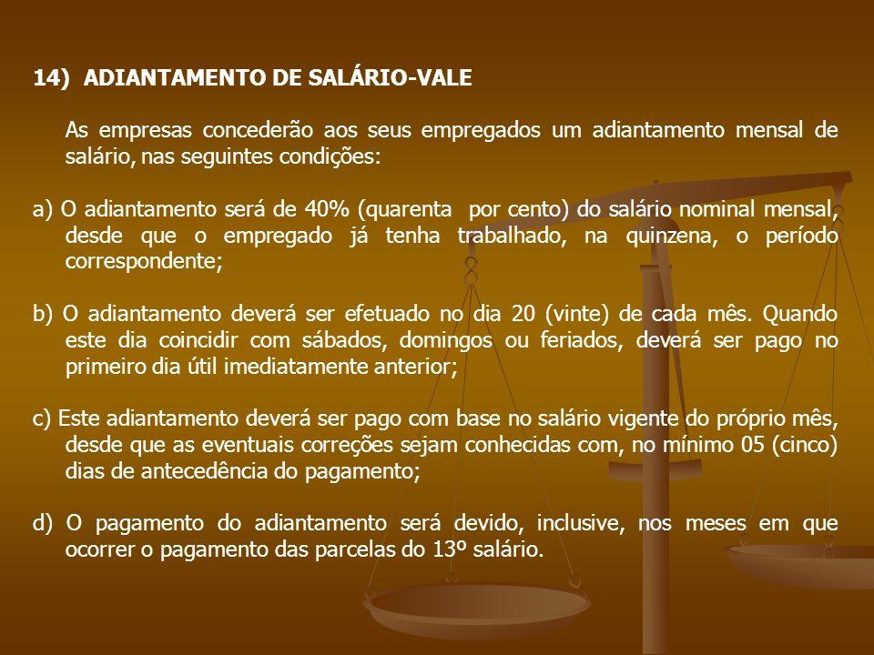 ADIANTAMENTO DE SALÁRIO-VALE