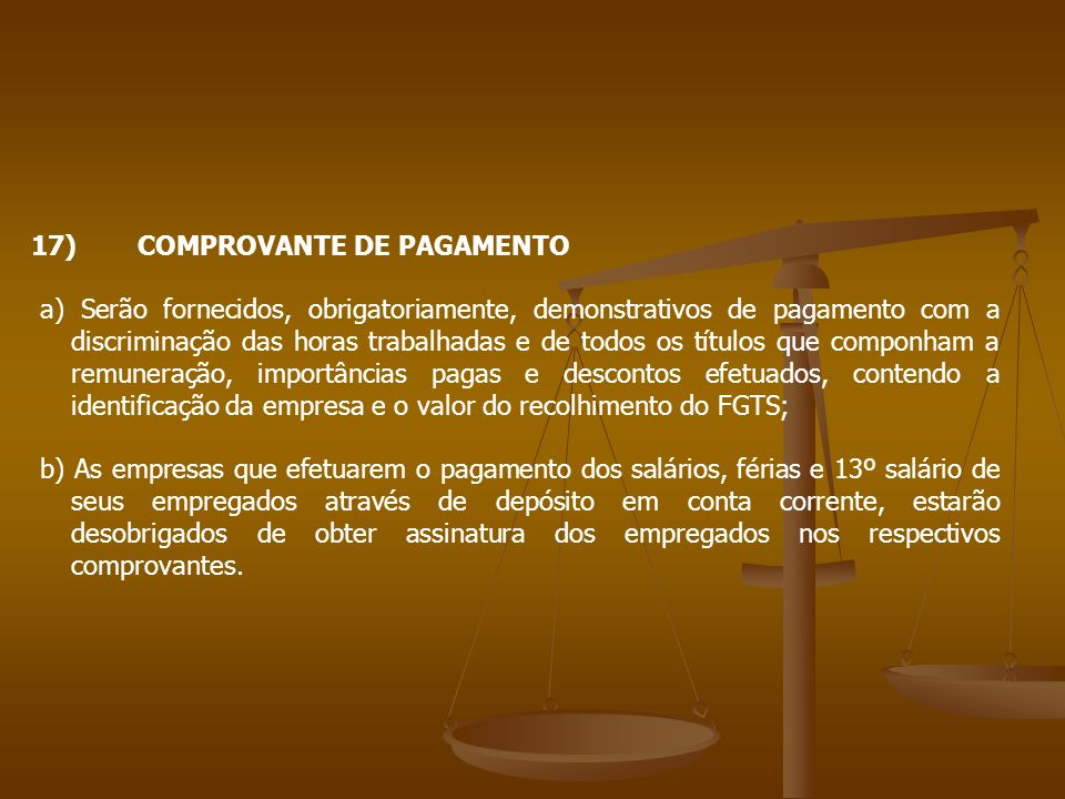17) COMPROVANTE DE PAGAMENTO