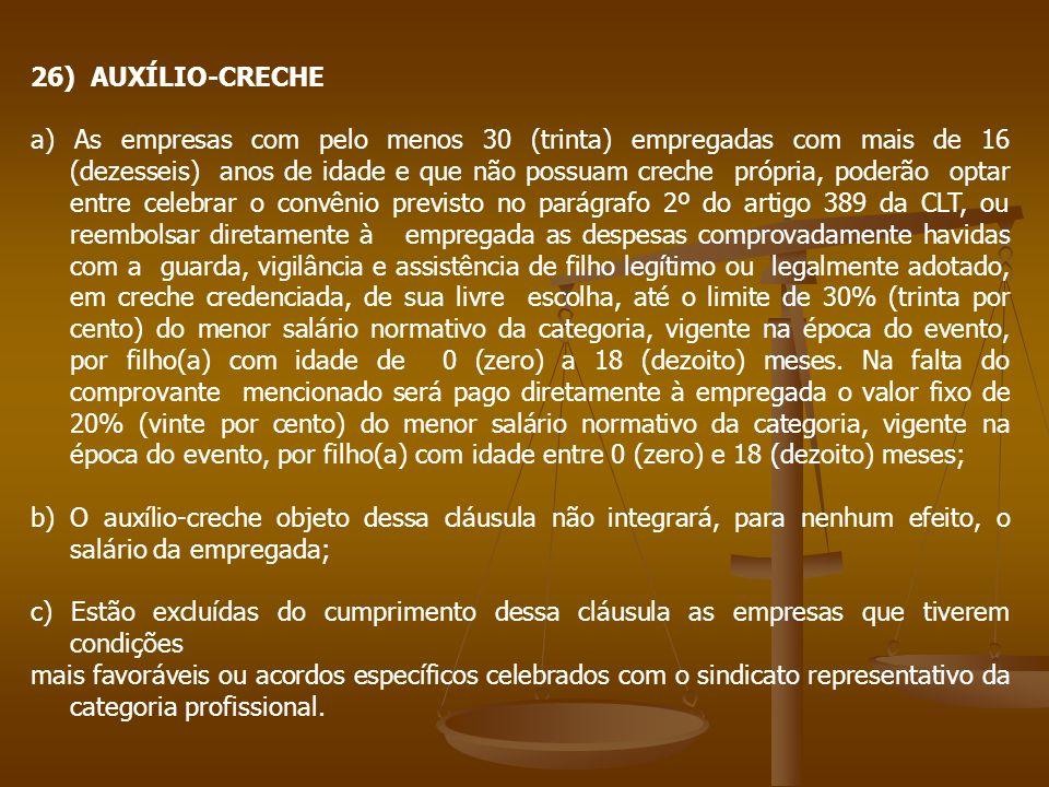 26) AUXÍLIO-CRECHE