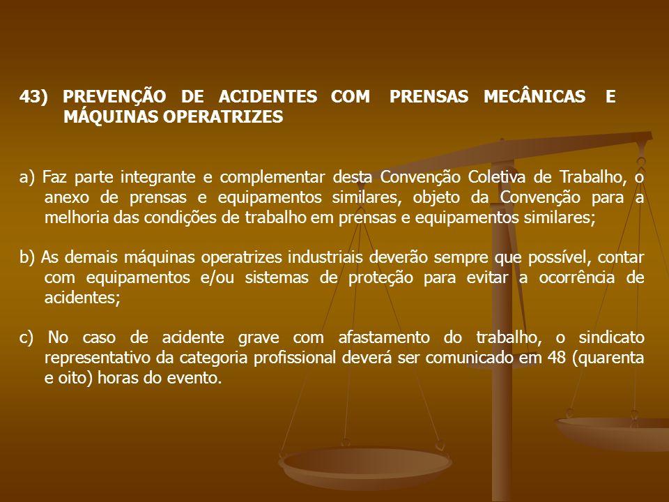 43) PREVENÇÃO DE ACIDENTES COM PRENSAS MECÂNICAS E