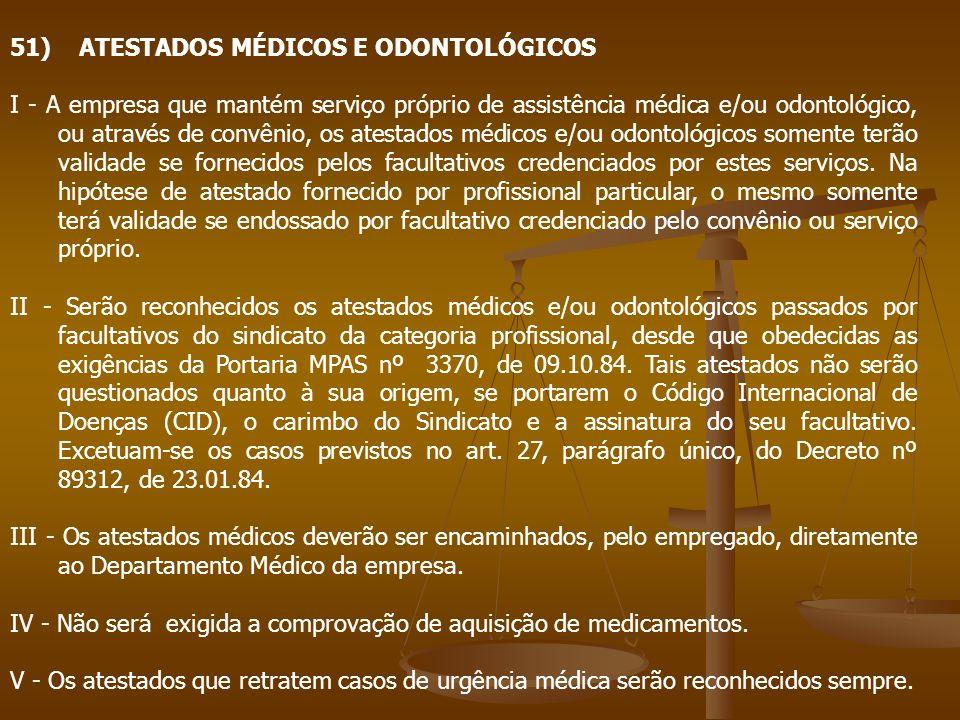 51) ATESTADOS MÉDICOS E ODONTOLÓGICOS