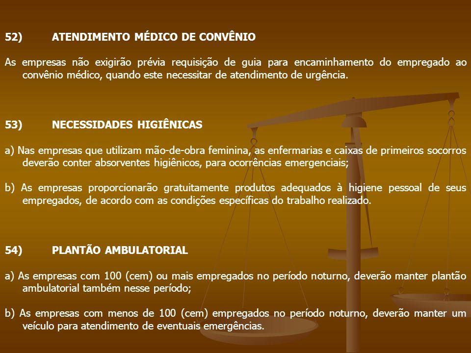 52) ATENDIMENTO MÉDICO DE CONVÊNIO