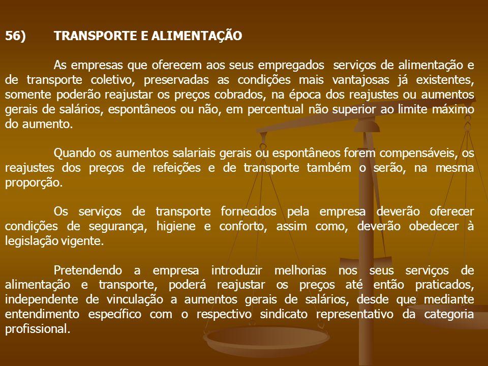 56) TRANSPORTE E ALIMENTAÇÃO