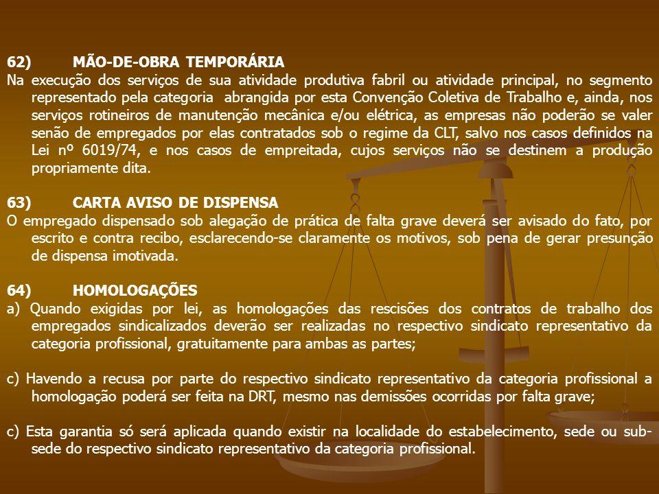 62) MÃO-DE-OBRA TEMPORÁRIA