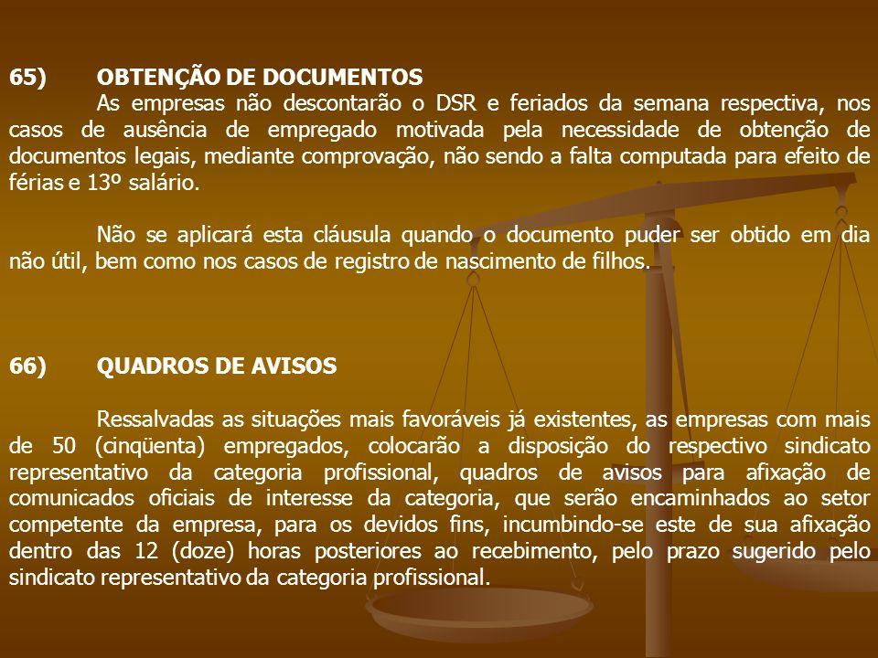 65) OBTENÇÃO DE DOCUMENTOS