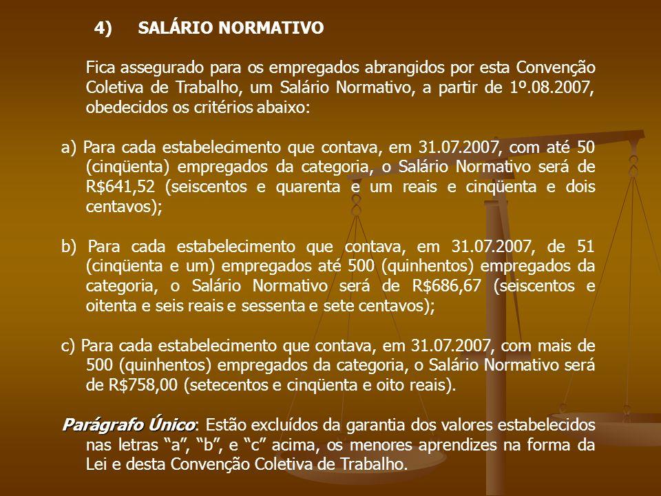 SALÁRIO NORMATIVO