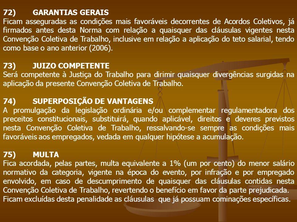 72) GARANTIAS GERAIS