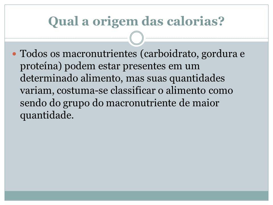 Qual a origem das calorias