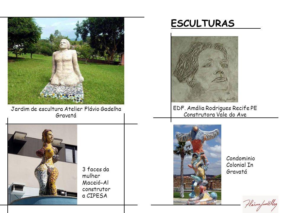 ESCULTURAS EDF. Amália Rodrigues Recife PE