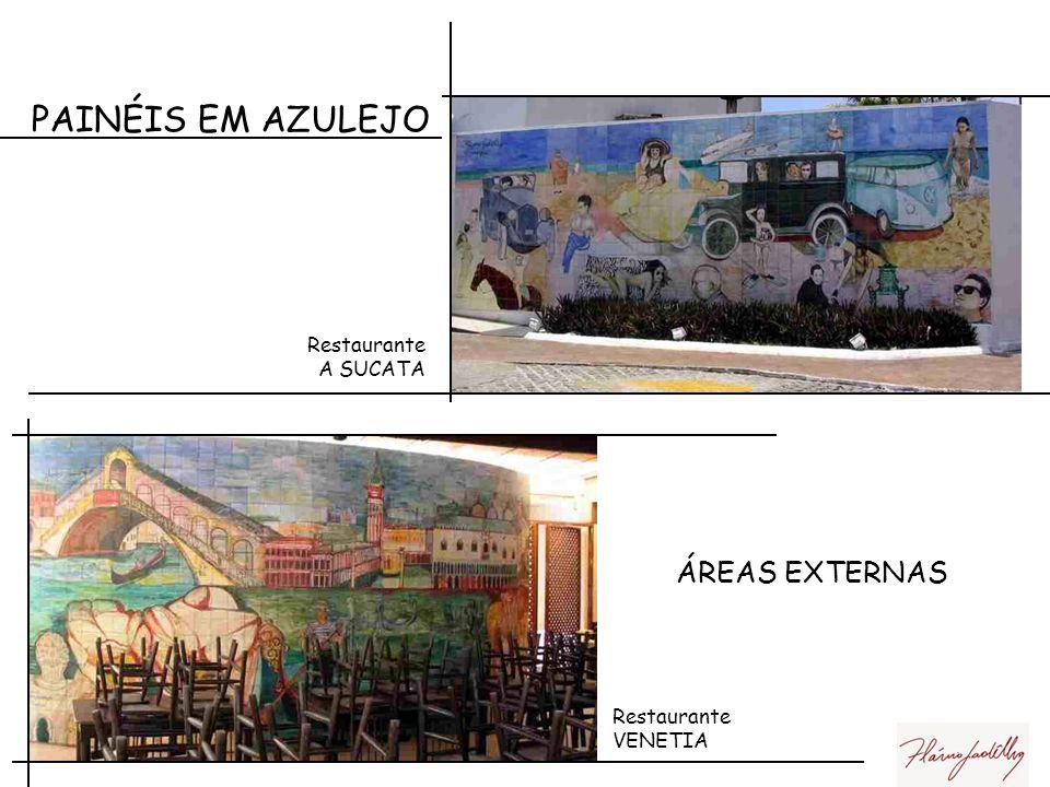 PAINÉIS EM AZULEJO ÁREAS EXTERNAS Restaurante A SUCATA Restaurante