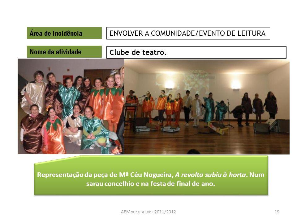 ENVOLVER A COMUNIDADE/EVENTO DE LEITURA