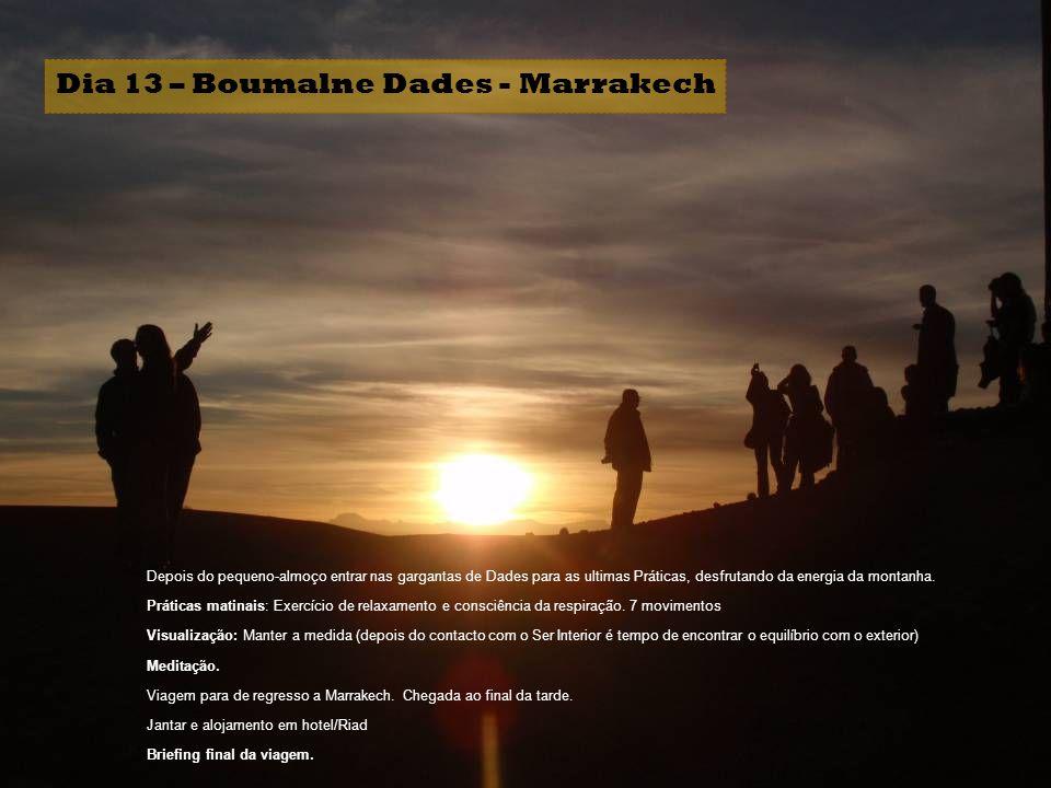 Dia 13 – Boumalne Dades - Marrakech