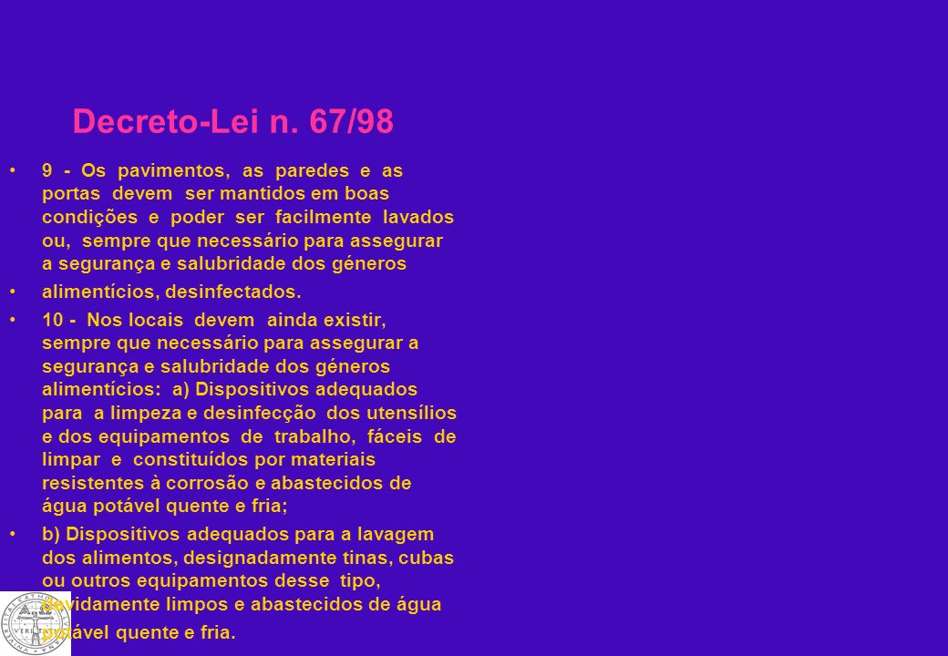 Decreto-Lei n. 67/98