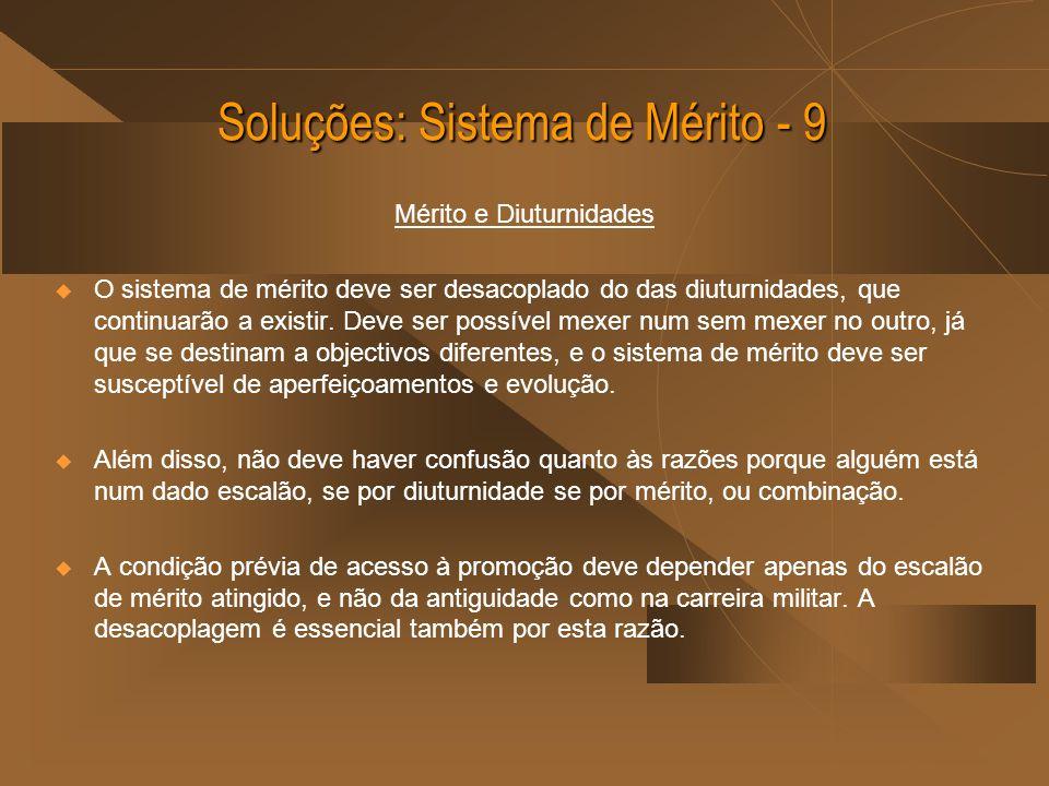 Soluções: Sistema de Mérito - 9