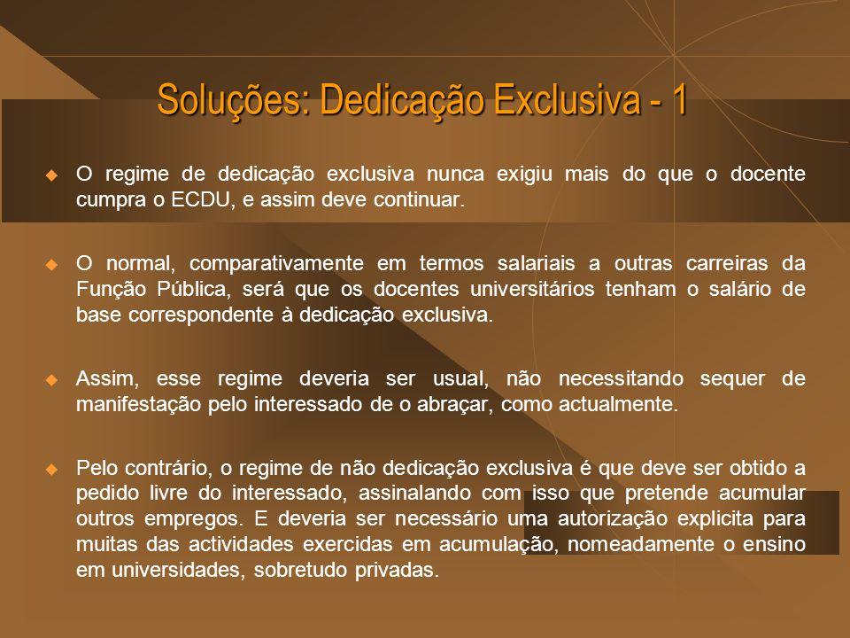 Soluções: Dedicação Exclusiva - 1