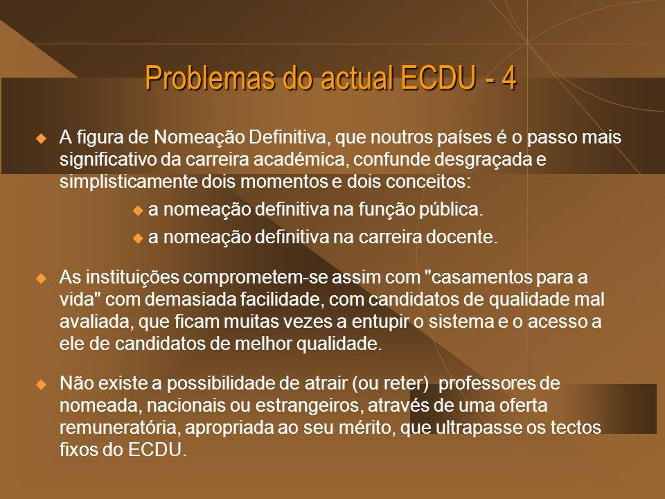 Problemas do actual ECDU - 4