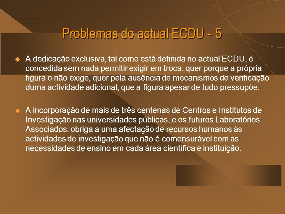 Problemas do actual ECDU - 5