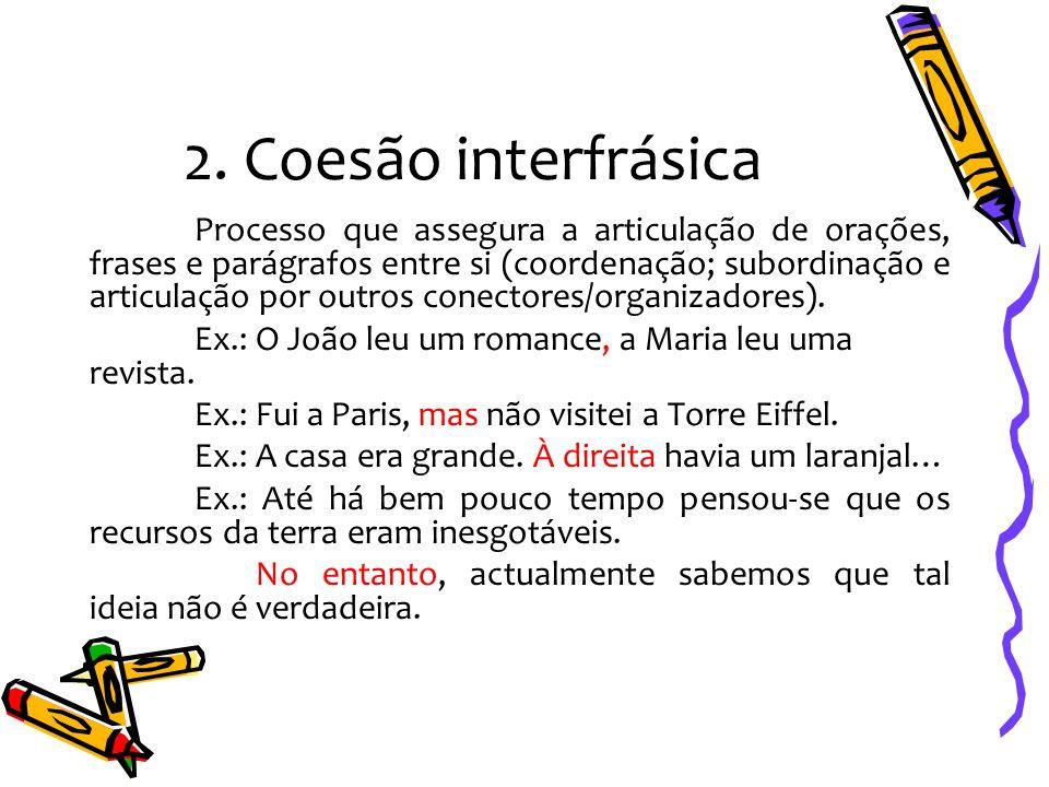 2. Coesão interfrásica