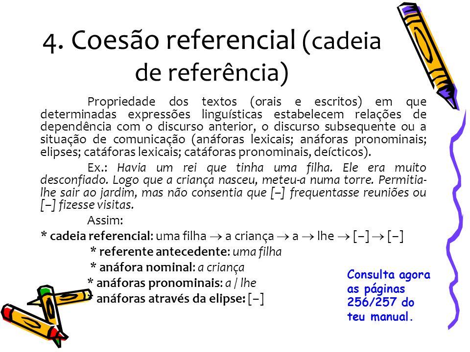 4. Coesão referencial (cadeia de referência)