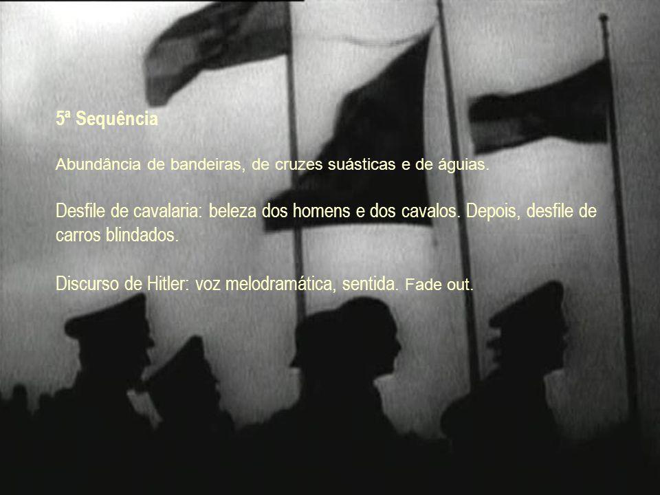 Discurso de Hitler: voz melodramática, sentida. Fade out.