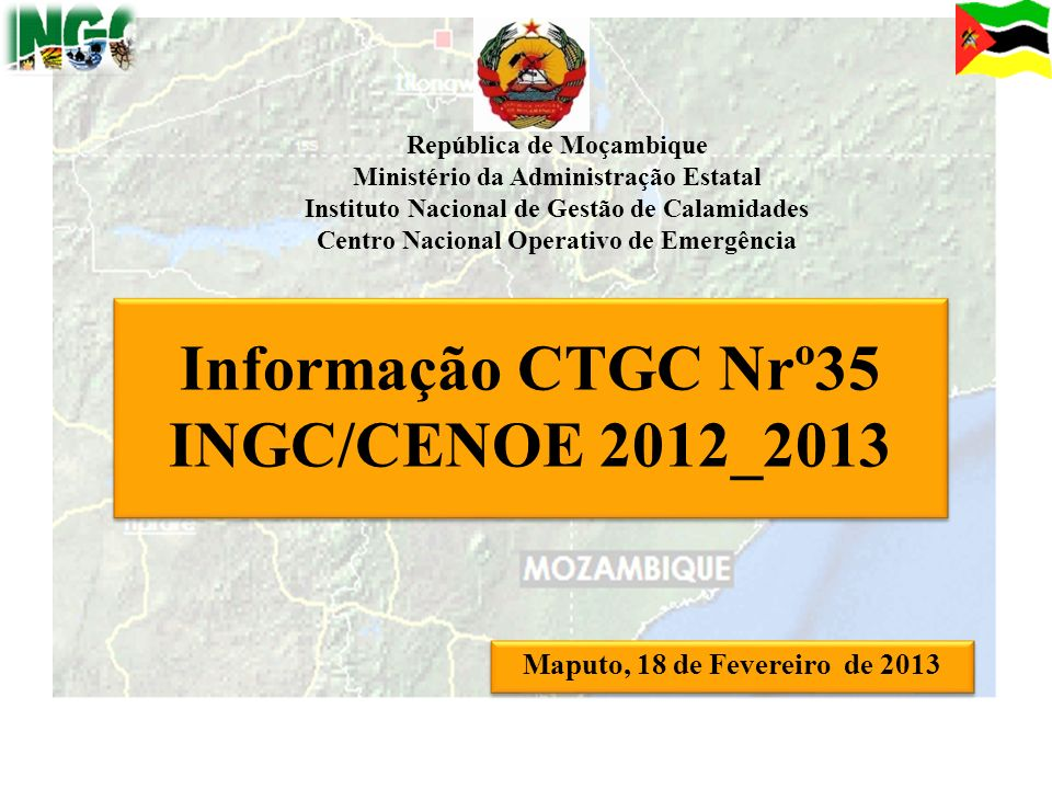 Informação CTGC Nrº35 INGC/CENOE 2012_2013