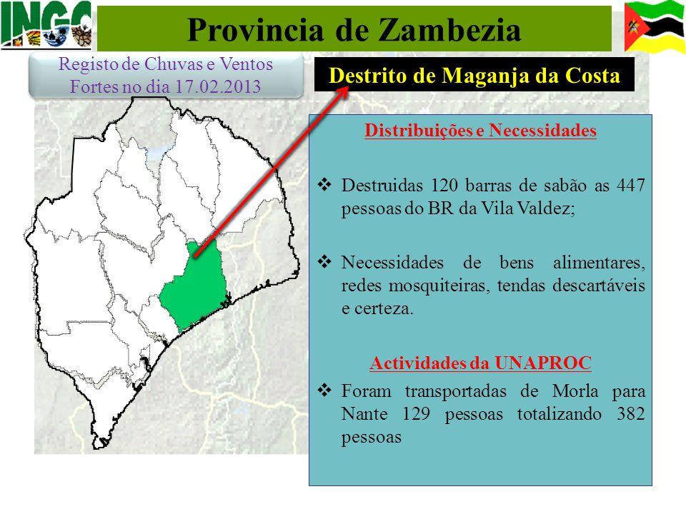 Provincia de Zambezia Destrito de Maganja da Costa