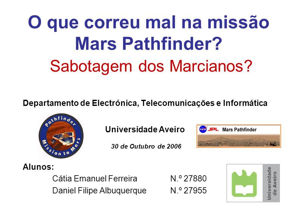O que correu mal na missão Mars Pathfinder Sabotagem dos Marcianos