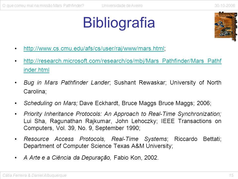 Bibliografia http://www.cs.cmu.edu/afs/cs/user/raj/www/mars.html;