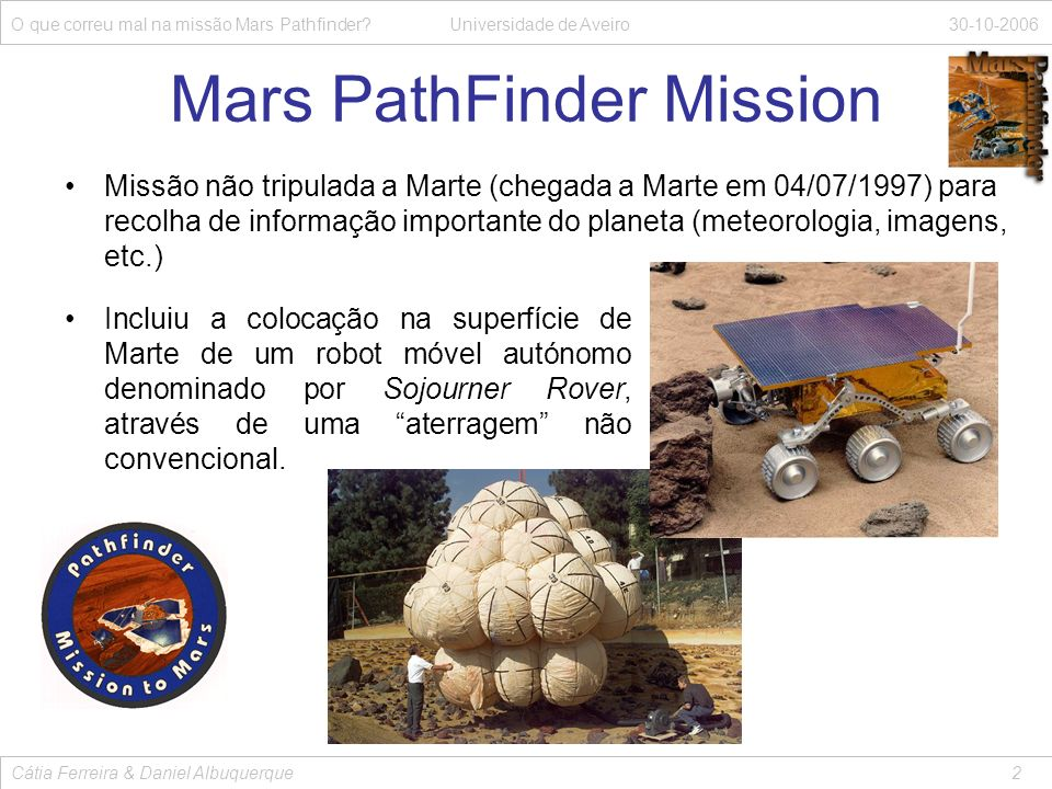 Mars PathFinder Mission