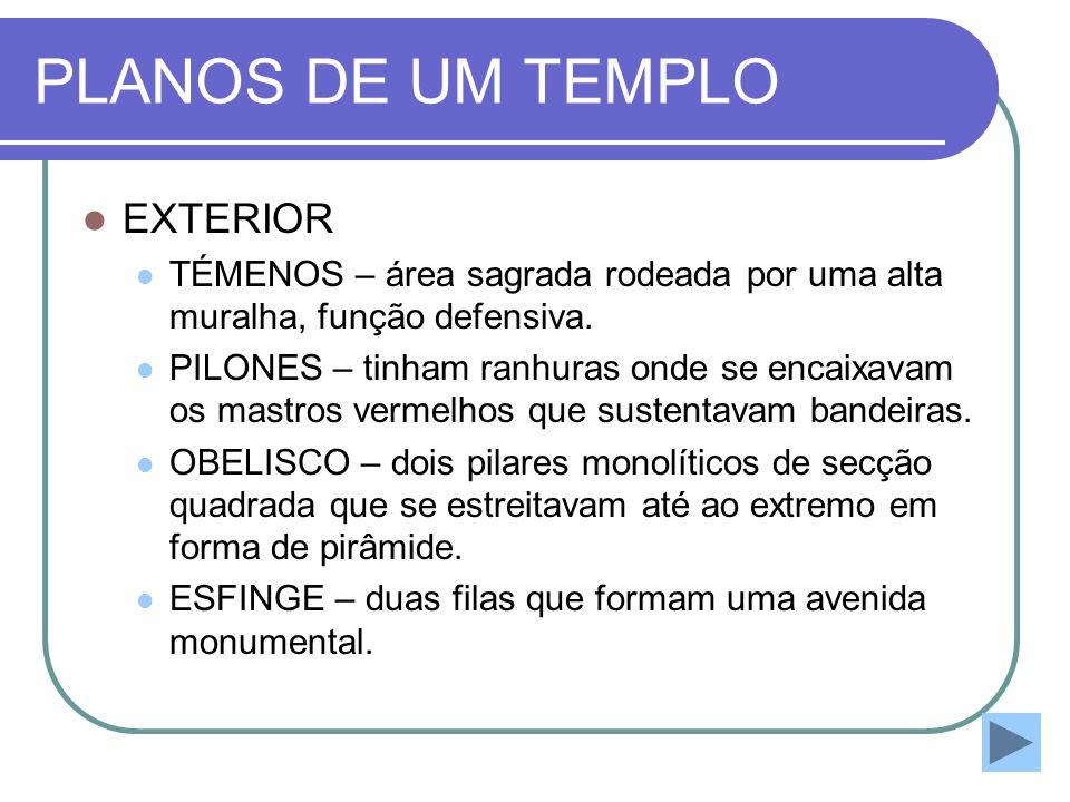 PLANOS DE UM TEMPLO EXTERIOR