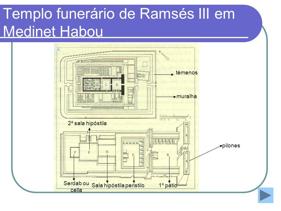 Templo funerário de Ramsés III em Medinet Habou