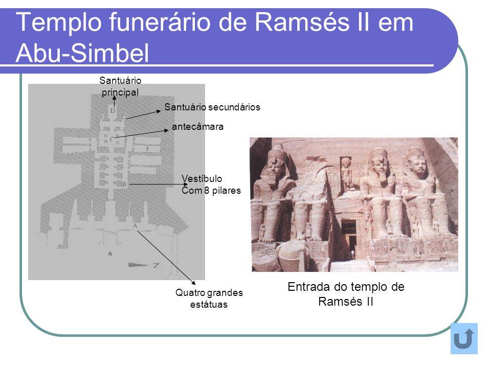 Templo funerário de Ramsés II em Abu-Simbel