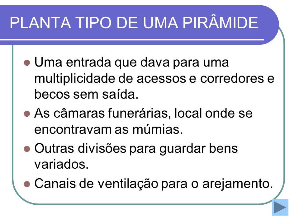 PLANTA TIPO DE UMA PIRÂMIDE