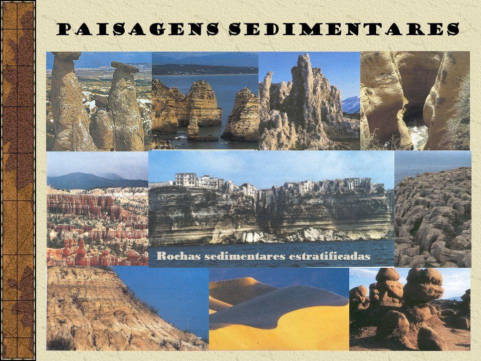 Rochas sedimentares estratificadas