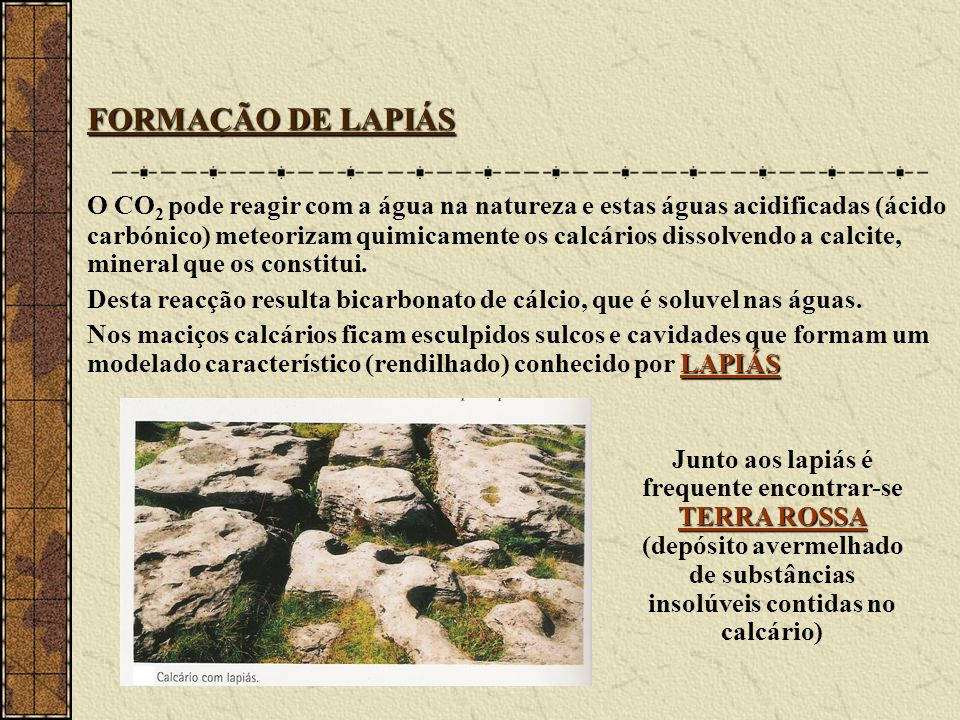 FORMAÇÃO DE LAPIÁS