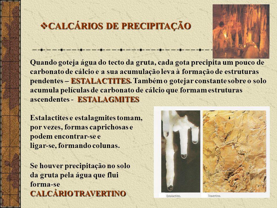CALCÁRIOS DE PRECIPITAÇÃO
