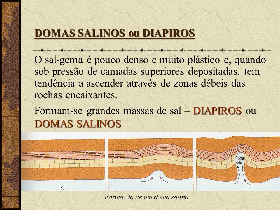 Formação de um doma salino