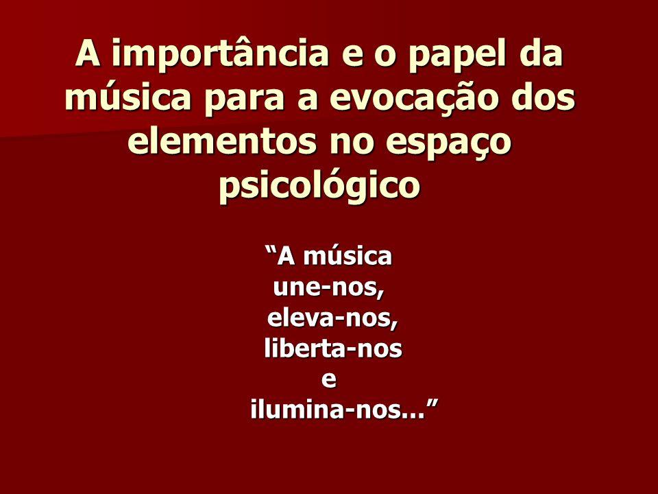 A importância e o papel da música para a evocação dos elementos no espaço psicológico