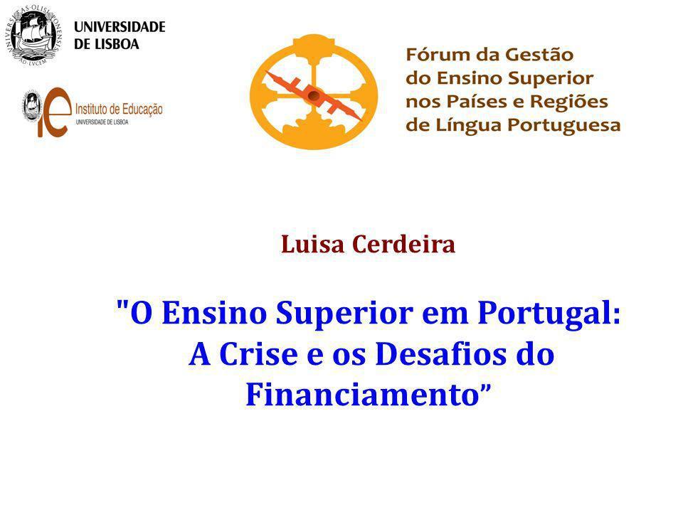 O Ensino Superior em Portugal: