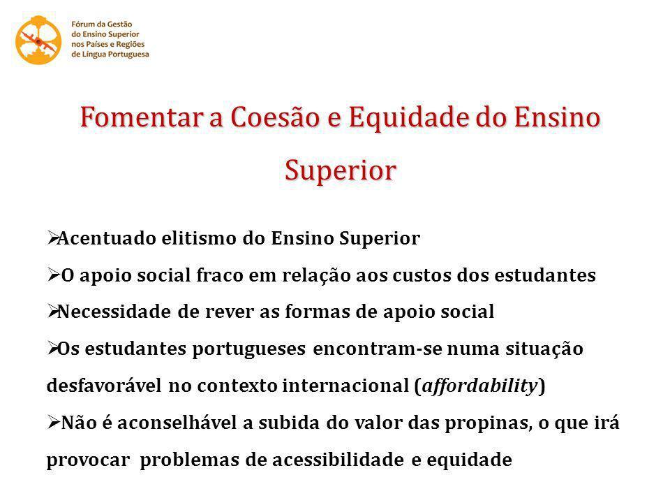 Fomentar a Coesão e Equidade do Ensino Superior