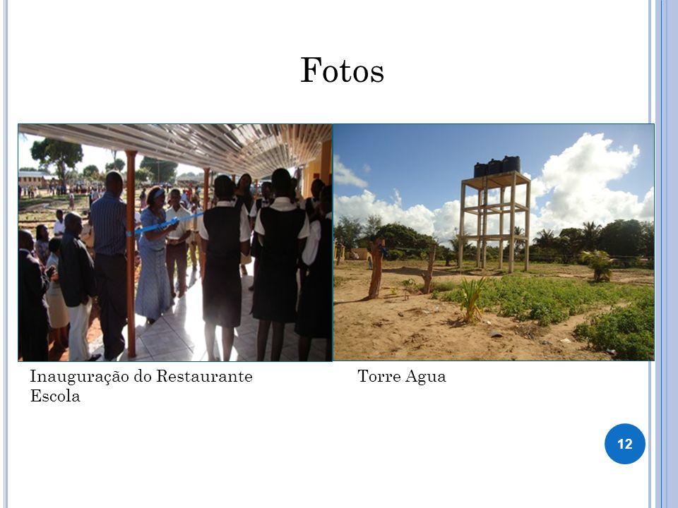 Fotos Inauguração do Restaurante Escola Torre Agua