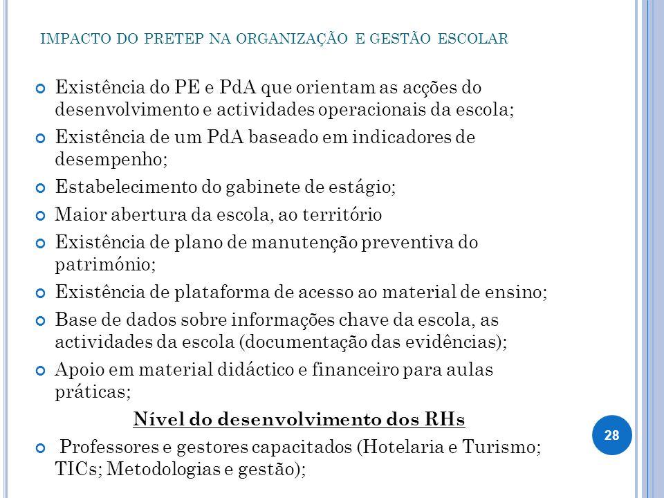 IMPACTO DO PRETEP NA ORGANIZAÇÃO E GESTÃO ESCOLAR