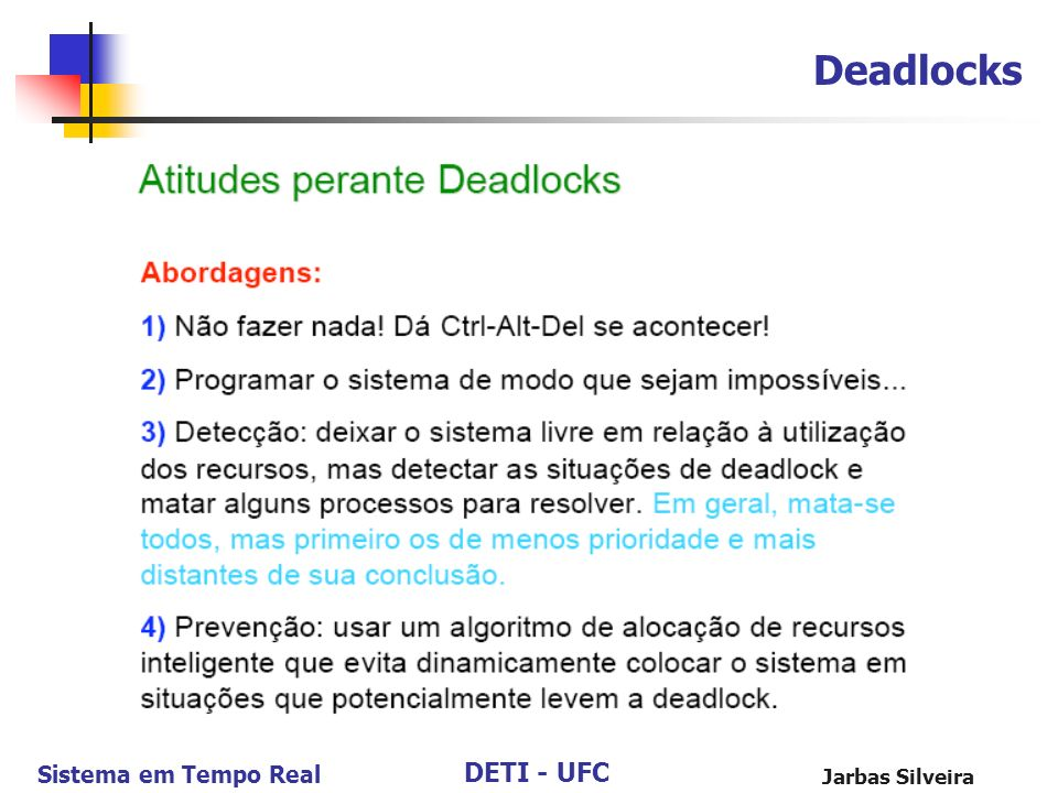 Deadlocks Jarbas Silveira 100