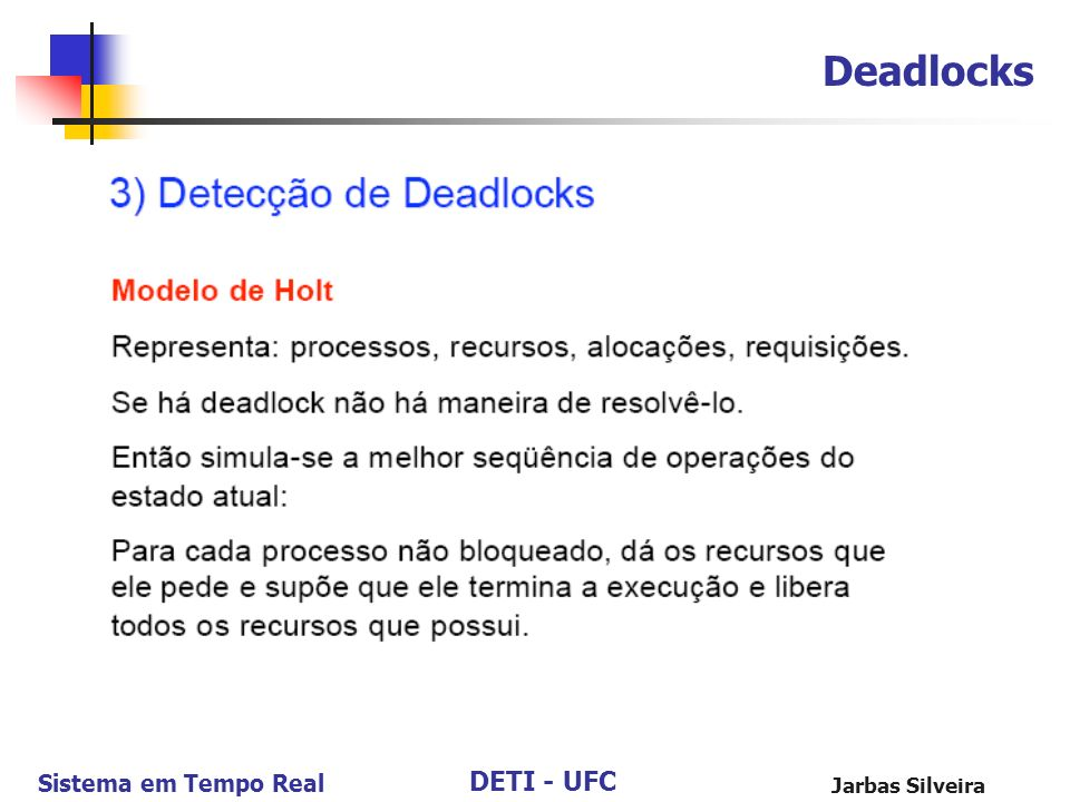 Deadlocks Jarbas Silveira 102