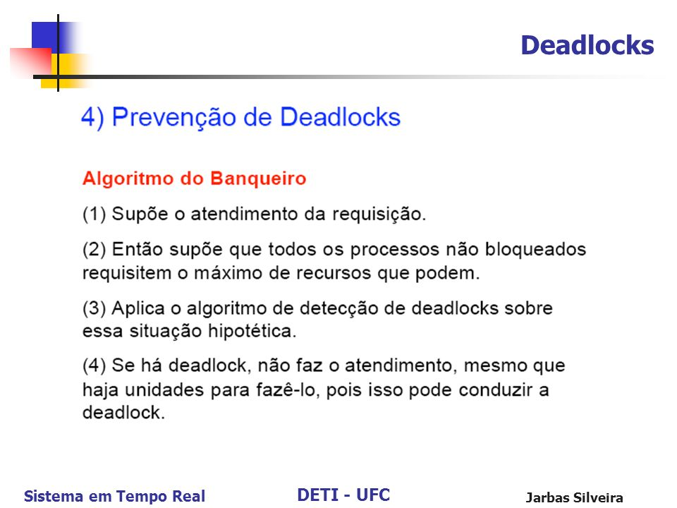 Deadlocks Jarbas Silveira 104