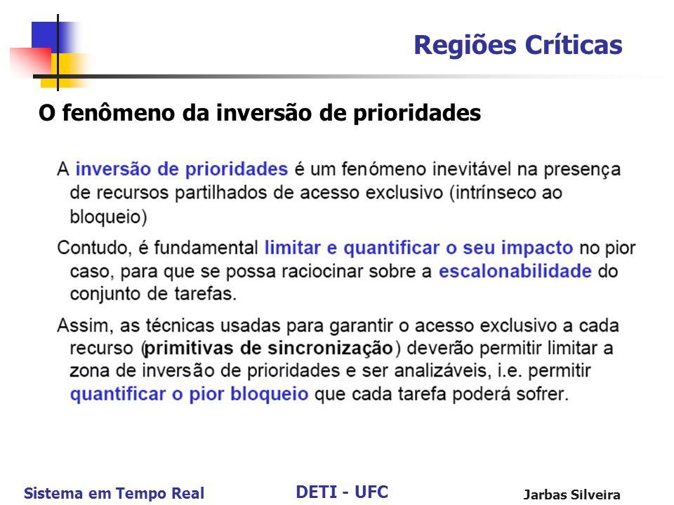 Regiões Críticas O fenômeno da inversão de prioridades Jarbas Silveira