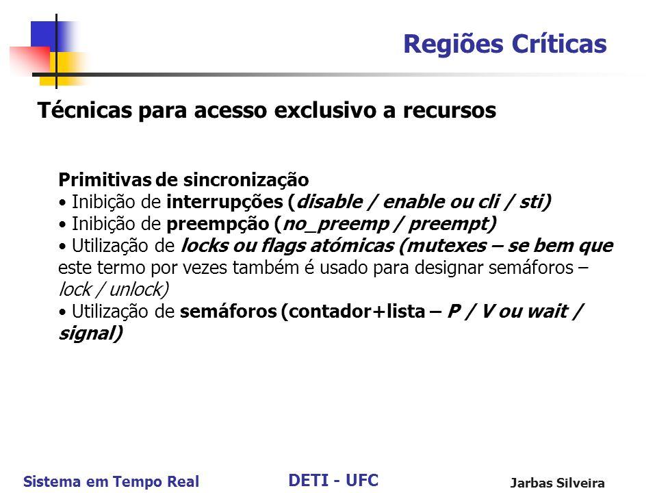 Regiões Críticas Técnicas para acesso exclusivo a recursos