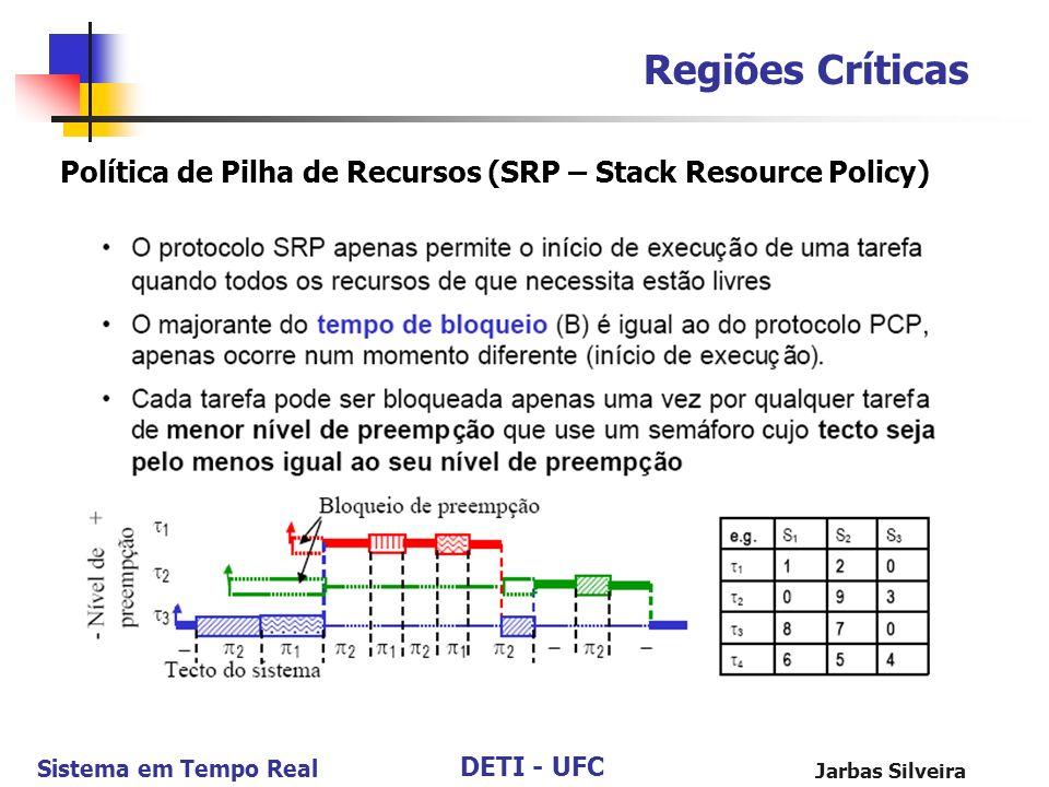 Regiões Críticas Política de Pilha de Recursos (SRP – Stack Resource Policy) Jarbas Silveira
